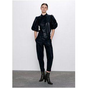 NWT Zara Faux Leather Pants
